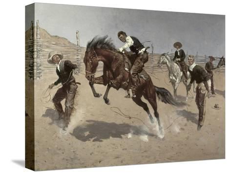 Turn Him Loose Bill-Frederic Sackrider Remington-Stretched Canvas Print