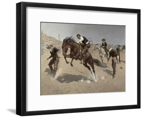 Turn Him Loose Bill-Frederic Sackrider Remington-Framed Art Print
