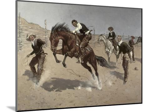 Turn Him Loose Bill-Frederic Sackrider Remington-Mounted Giclee Print