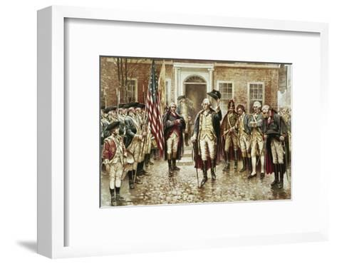 Washington's Farewell to His Officers-Edward Moran-Framed Art Print