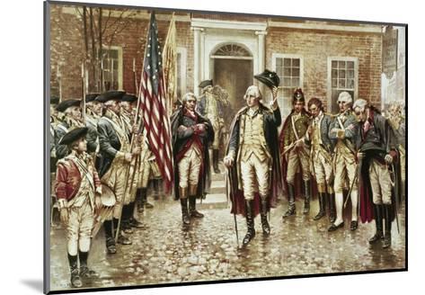Washington's Farewell to His Officers-Edward Moran-Mounted Giclee Print