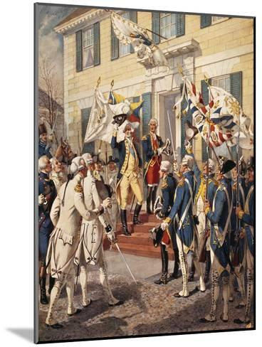 Washington Visiting Rochambeau at French Embassy-H^a^ Ogden-Mounted Giclee Print