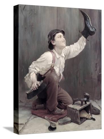 Shoeshine Boy-Karl Witkowski-Stretched Canvas Print