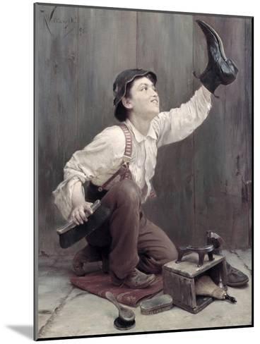 Shoeshine Boy-Karl Witkowski-Mounted Giclee Print
