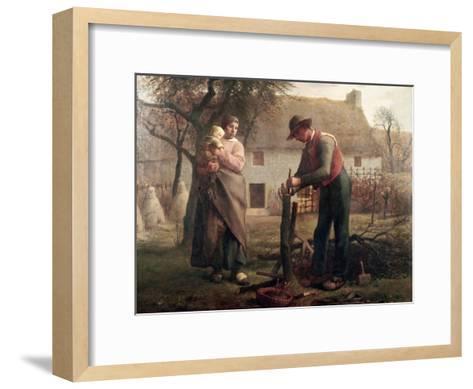Peasant Grafting a Tree-Jean-Fran?ois Millet-Framed Art Print
