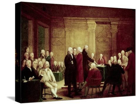 Congress Voting Independence-Robert Edge Pine-Stretched Canvas Print
