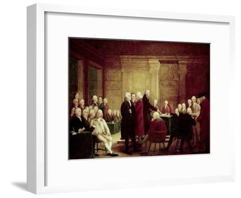 Congress Voting Independence-Robert Edge Pine-Framed Art Print