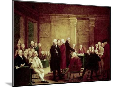 Congress Voting Independence-Robert Edge Pine-Mounted Giclee Print