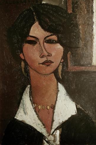 The Algerian Almaisa-Amedeo Modigliani-Stretched Canvas Print