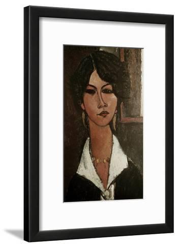 The Algerian Almaisa-Amedeo Modigliani-Framed Art Print