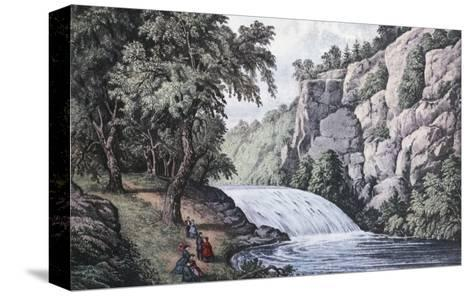 Tallulah Falls, Georgia-Currier & Ives-Stretched Canvas Print