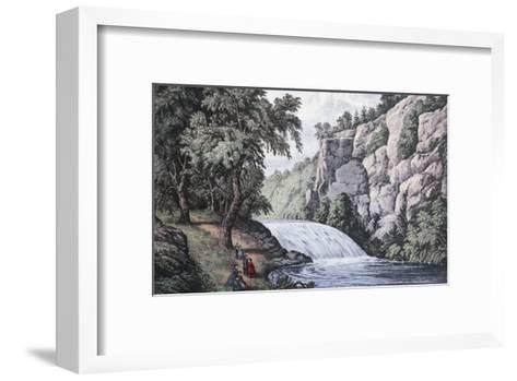 Tallulah Falls, Georgia-Currier & Ives-Framed Art Print