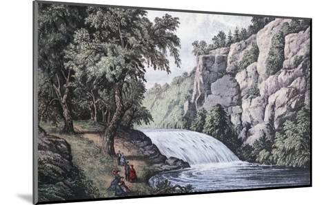 Tallulah Falls, Georgia-Currier & Ives-Mounted Giclee Print