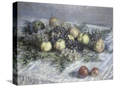 Still Life with Pears and Grapes-Claude Monet-Stretched Canvas Print