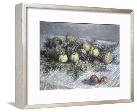 Still Life with Pears and Grapes-Claude Monet-Framed Art Print
