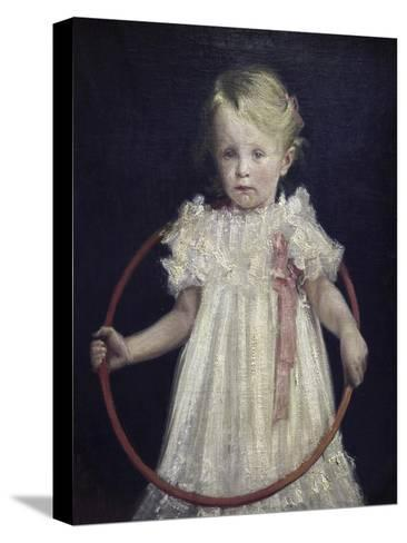 Girl with a Ring-Wladyslaw Podkowinski-Stretched Canvas Print