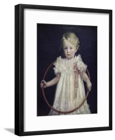 Girl with a Ring-Wladyslaw Podkowinski-Framed Art Print