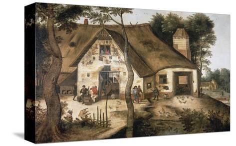 The Auberge Saint Michel-Pieter Bruegel the Elder-Stretched Canvas Print
