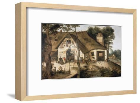 The Auberge Saint Michel-Pieter Bruegel the Elder-Framed Art Print