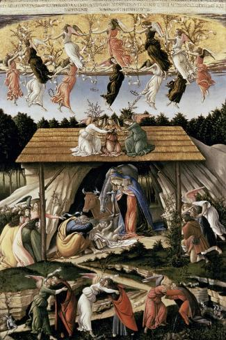 The Mystic Nativity-Sandro Botticelli-Stretched Canvas Print