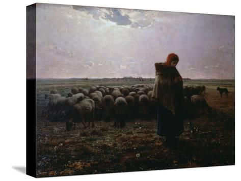 Pasture-Jean-Fran?ois Millet-Stretched Canvas Print