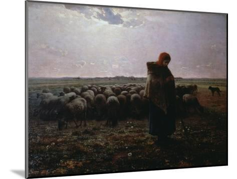 Pasture-Jean-Fran?ois Millet-Mounted Giclee Print