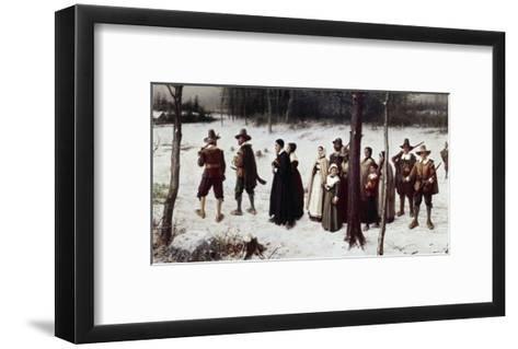 Pilgrims Going to Church-George Henry Boughton-Framed Art Print