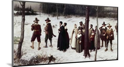 Pilgrims Going to Church-George Henry Boughton-Mounted Giclee Print