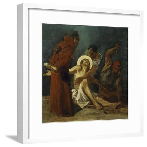 Jesus is Nailed to the Cross 11th Station of the Cross-Martin Feuerstein-Framed Art Print