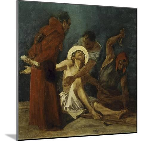 Jesus is Nailed to the Cross 11th Station of the Cross-Martin Feuerstein-Mounted Giclee Print