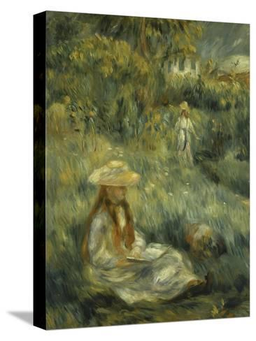 Garden at Mezy: Mlle. Manet-Pierre-Auguste Renoir-Stretched Canvas Print