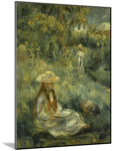 Garden at Mezy: Mlle. Manet-Pierre-Auguste Renoir-Mounted Giclee Print