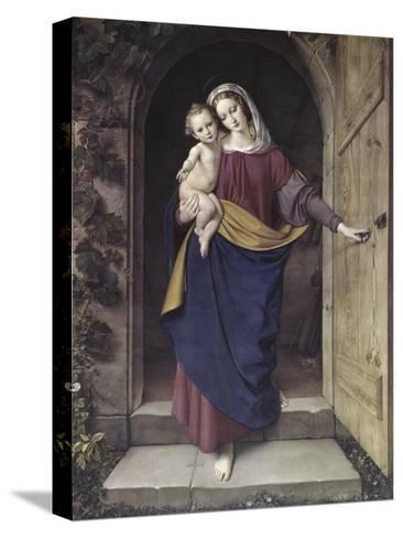 Madonna in the Workshop-Eduard Steinbruck-Stretched Canvas Print