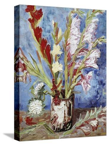 Vase with Gladioli-Vincent van Gogh-Stretched Canvas Print