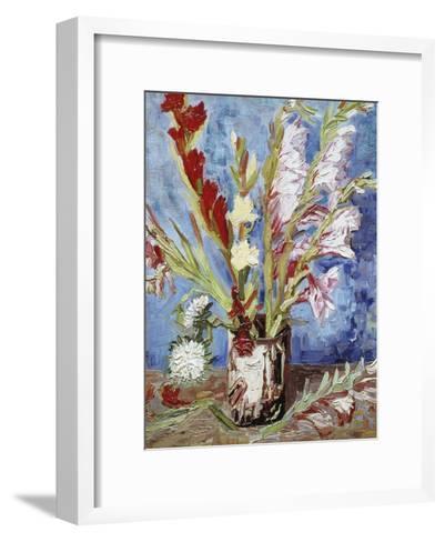 Vase with Gladioli-Vincent van Gogh-Framed Art Print