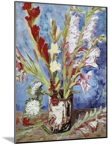 Vase with Gladioli-Vincent van Gogh-Mounted Giclee Print