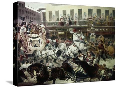 Barnum's Museum-A.c. Kent-Stretched Canvas Print