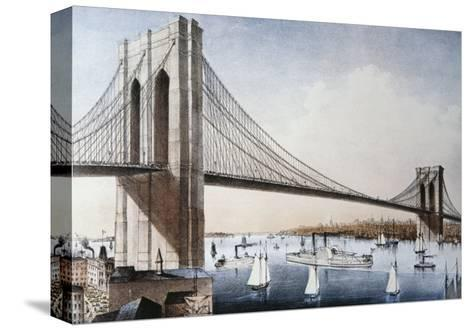 Brooklyn Bridge, New York City--Stretched Canvas Print