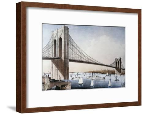 Brooklyn Bridge, New York City--Framed Art Print