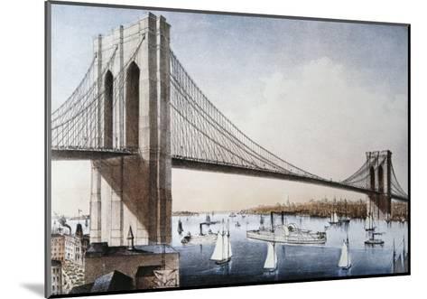 Brooklyn Bridge, New York City--Mounted Giclee Print