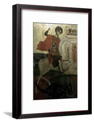 Saint George and the Dragon--Framed Art Print