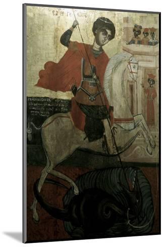 Saint George and the Dragon--Mounted Giclee Print