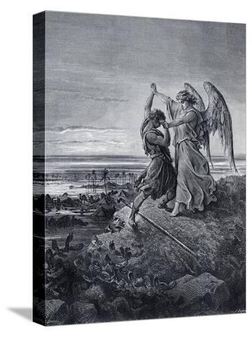 Jacob Wrestling with the Angel-Gustave Dor?-Stretched Canvas Print