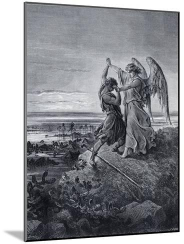 Jacob Wrestling with the Angel-Gustave Dor?-Mounted Giclee Print