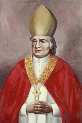 Archbishop John Carrol-Vittorio Bianchini-Stretched Canvas Print