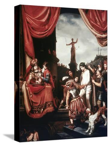 Christ Before Pilate-Cornelis Bisschop-Stretched Canvas Print