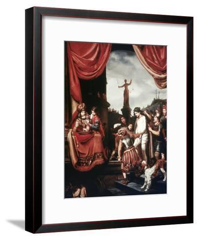 Christ Before Pilate-Cornelis Bisschop-Framed Art Print