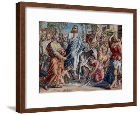 Entry Into Jerusalem-Julius Schnorr von Carolsfeld-Framed Art Print