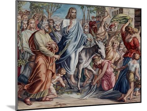 Entry Into Jerusalem-Julius Schnorr von Carolsfeld-Mounted Giclee Print
