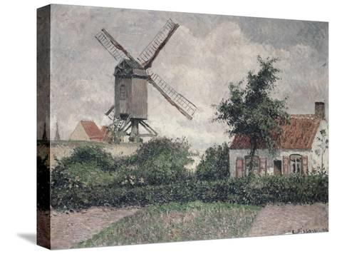Moulin a Knocke, Belgique-Camille Pissarro-Stretched Canvas Print